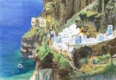 Honorable Mention - Sea Level Santorini by Renee Sebring