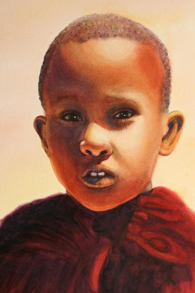 Logan Graphic Products, Inc. Merchandise Award and Golden Artist Colors, Inc. Merchandise Award - Maasai Boy by Jayne Spencer
