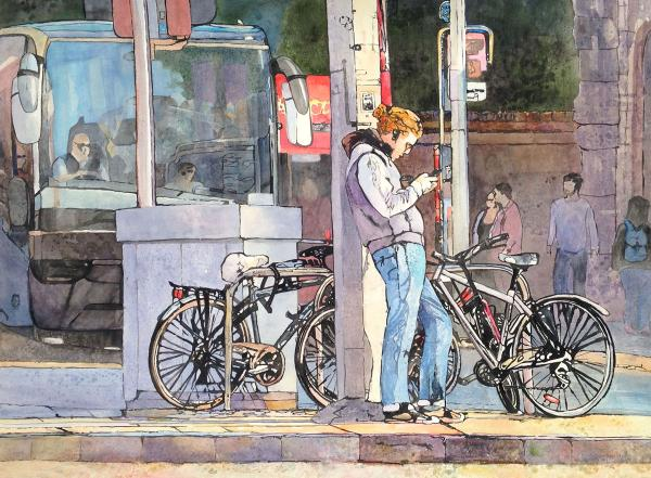 The Dyer Family Cash Award,  Winsor & Newton Award,  - Dublin, Bikes by Cristine Weatherby
