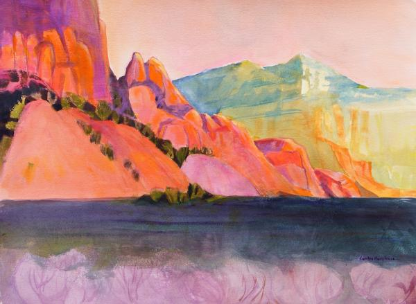 Orange Cliffs by Sandra Humphries