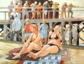 SDWS Third Place Award, Da Vinci Paint Co. Award - Whale Watchers by George Schoonover