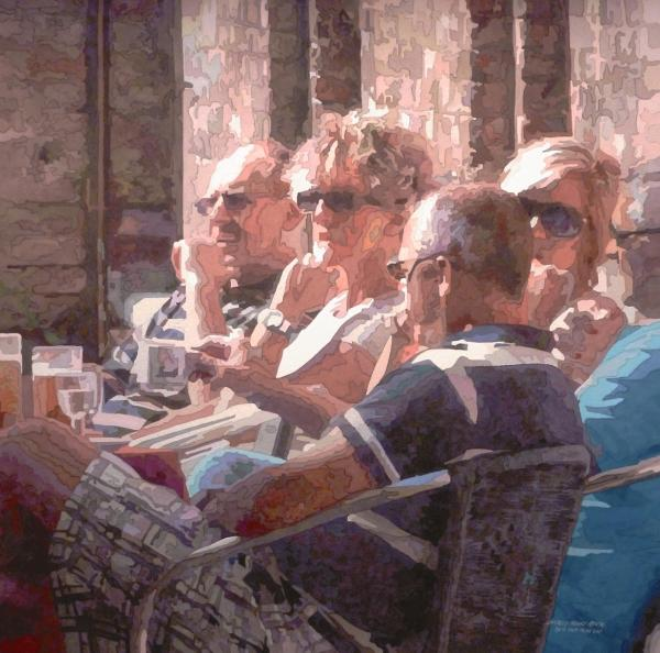 Watercolor West Reciprocal Award - Lunch in Venice by Charles Henry Rouse