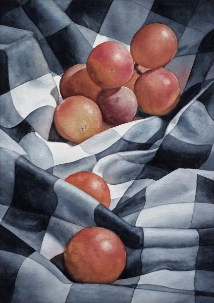 Grapes on Gingham by Scott Stoltman