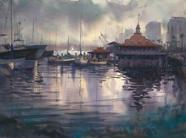 Dr. Ph. Martin's Award,  Holbein Artists Materials Award,  Legion Paper Award,  - After the Rain, Coronado by Keiko Tanabe