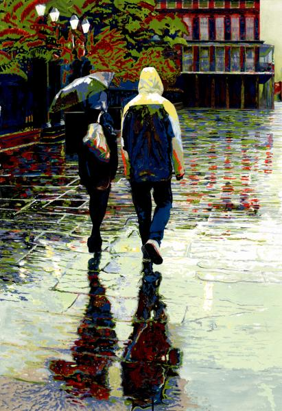 Winter Rain in New Orleans by Kathy Simon-McDonald