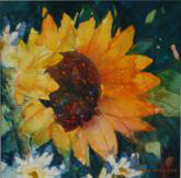 Best of Miniatures - Sunflower and Daisies by Joan McKasson