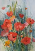 Poppies  and Wild Grass   by Joan McKasson