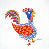 Colorful Critters:  Rockin Rooster by Alice Kayuha
