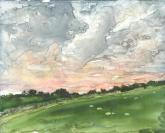 Evening Clouds by Susan Weinberg-Harter