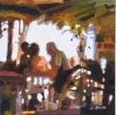 Best of Miniatures - Dining In Quintana Roo by Charles Rouse