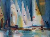 Sails in the Bay by Joan McKasson