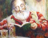 Checking His List, sketch by Julie Anderson