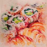 California Rolls and Shrimp by Beverly Berwick