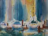 Sunlit Harbor by Joan McKasson