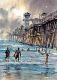 Oceanside Surfers by Bruce Swart