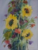 Sunflowers Growing Tall by Joan McKasson