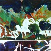 Honorable Mention Miniatures - Forest Dance by Carol Mansfield