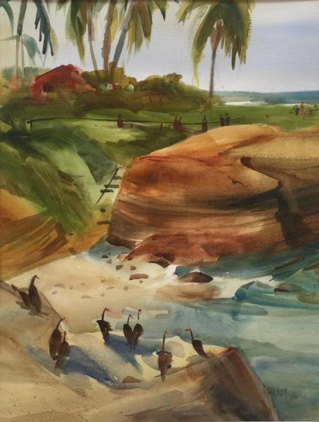 Gathering at the Cove by June Maxion