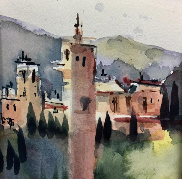 Assisi Tower by Lorri Lynch