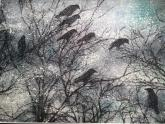 Crows in Snow by Rebecca McCullough