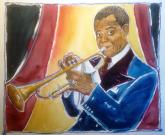Satchmo by Gerald Bischoff