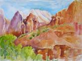 Zion Formations by Sue Zinngrabe Gold