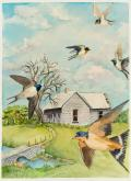 Barn Swallows in Spring by Carol Roberts