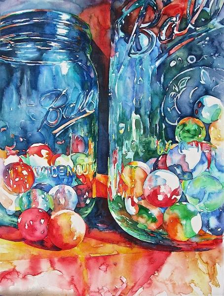 Marbles and Jars by Susan Keith