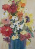 Garden Flower Bouquet by Joan McKasson