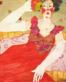 Honorable Mention - Lady In Red by Bonnie Woods