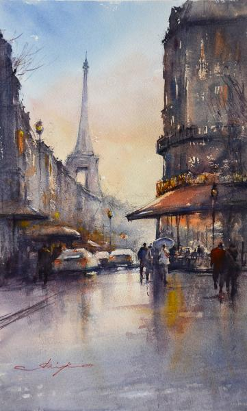 Corner Cafe, Paris by Shuang Li