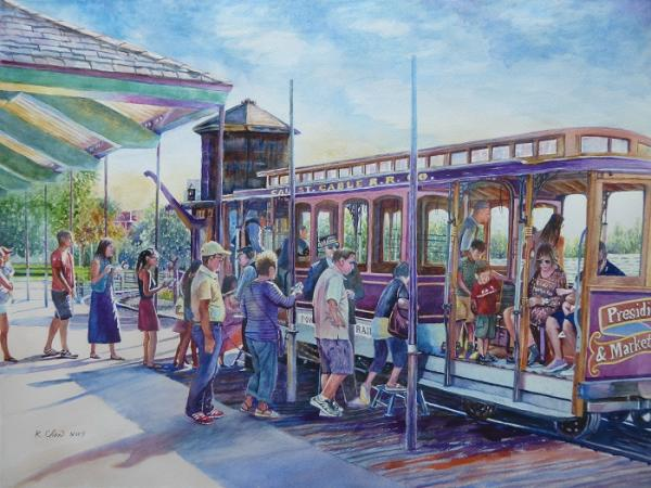 Boarding the Train at Poway by Keming Chen