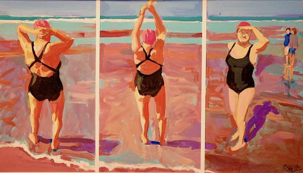 Second Place - Beach Triptych by Richard Glassman