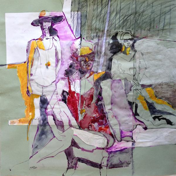 Honorable Mention - Layers No. 35 (Threesome) by Marion Mettler