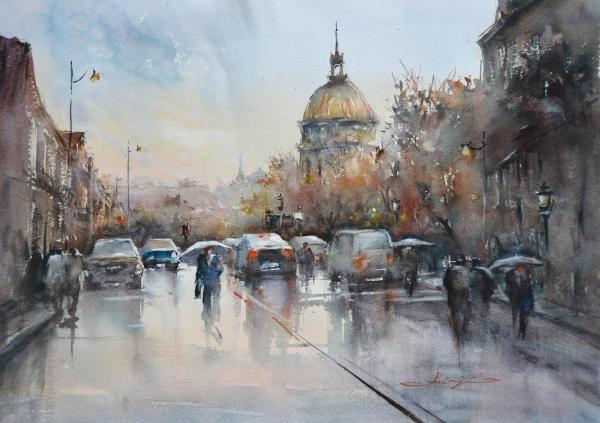 Evening Rain, Paris by Shuang Li