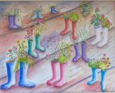 Wellie Garden by Barbara Roth