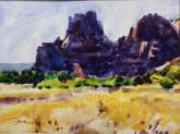 Sketch for Sedona Backlighted by Thomas Franco