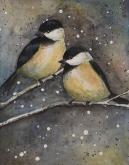 Chickadees by Andrea Ausland