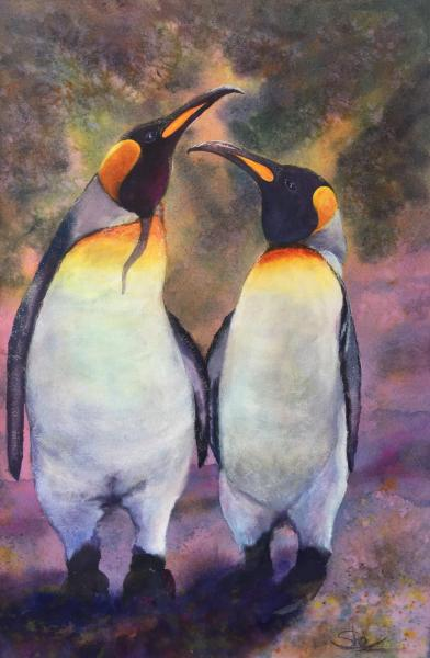 Penguin Love - Gold Harbor, S. Georgia Islands by Sheila Greer