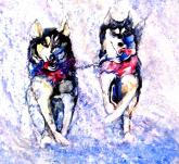 Iditarod Leaders by Beverly Berwick