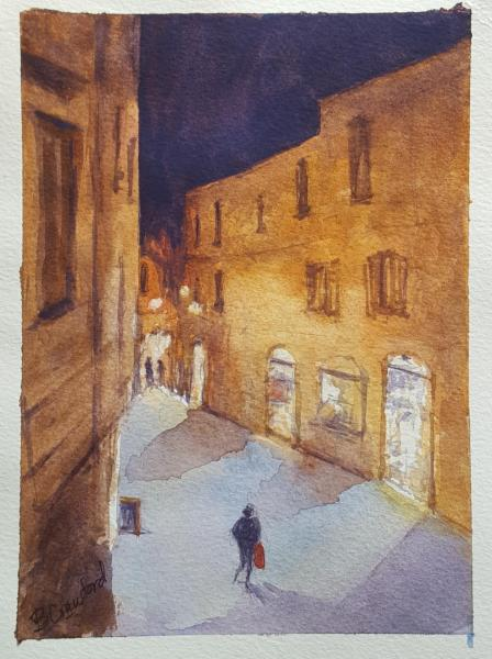 Old Town Assisi by Barbara Crawford