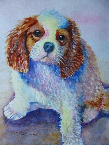 Cavalier King Charles by Keming Chen
