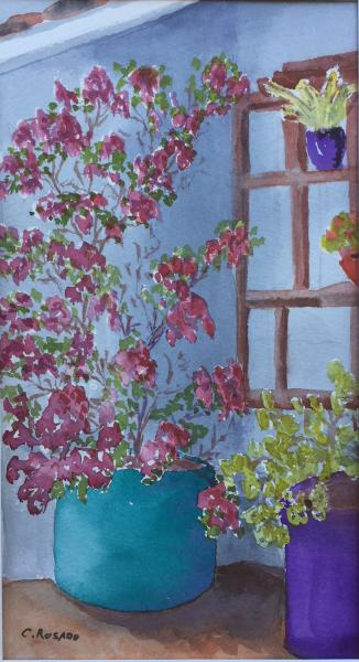 Patio Corner by Carolyn Rosado