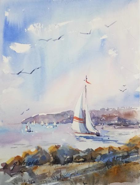 Point Loma Sails by Jami Wright