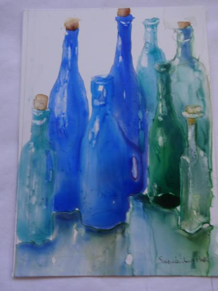 Blue Bottles by Susan Weinberg-Harter