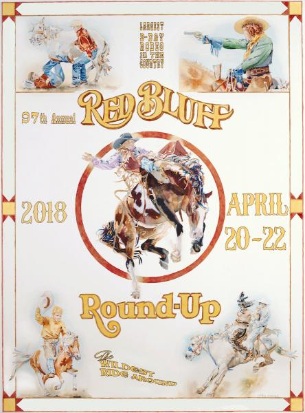 Red Bluff Rodeo by Kathy Harder