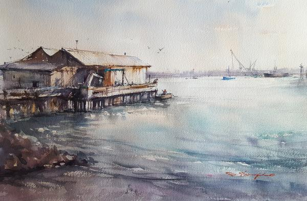 Boat House, Port Angeles by Shuang Li