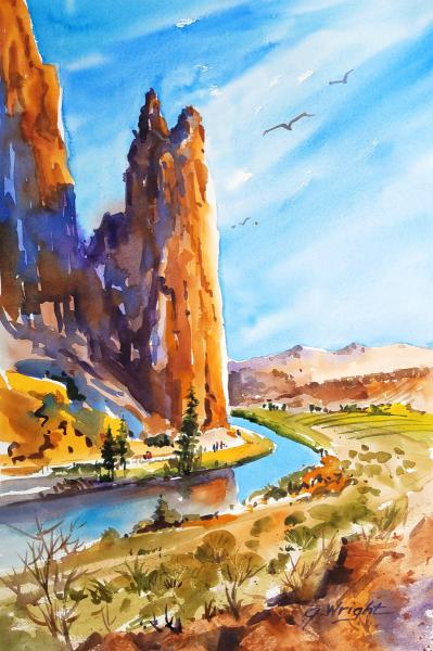 Smith Rock and the Crooked River, Central Oregon by Jami Wright
