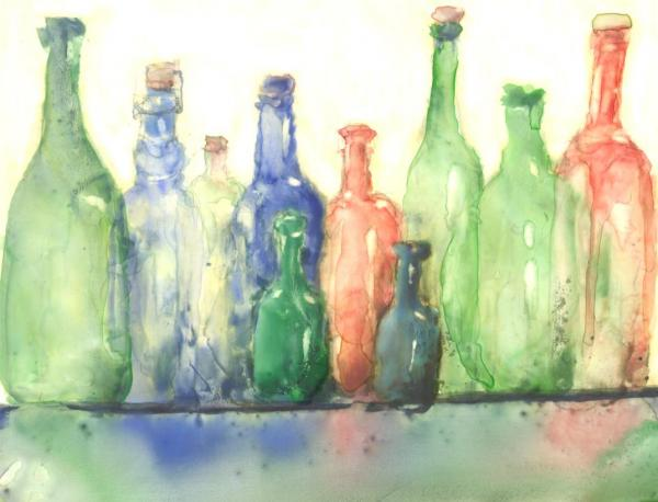 Colored Bottles by Susan Weinberg-Harter