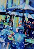 Brunch Under The Umbrellas by Susan Keith